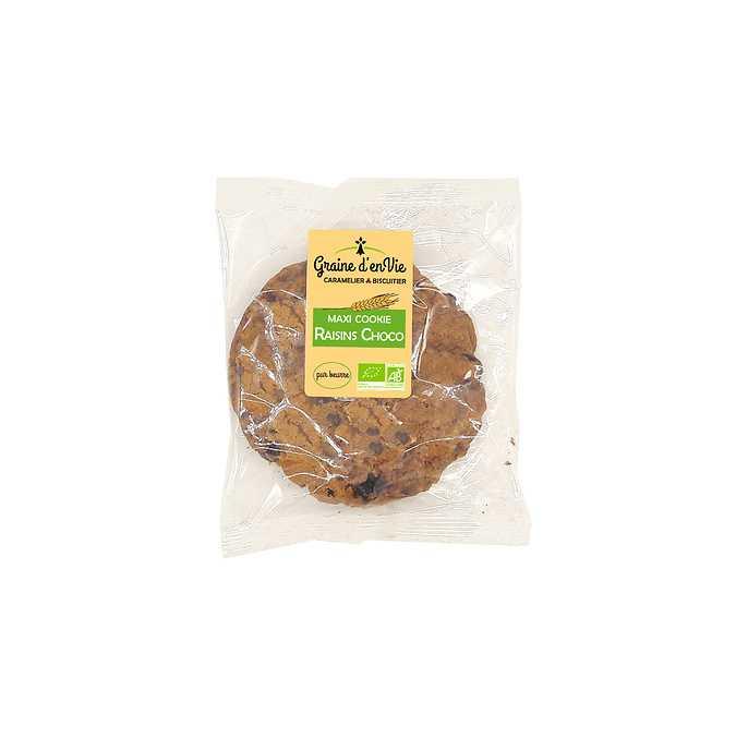 Maxi Cookie Raisins Choco 80g 0